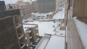 برف نو سلام/ گزارش تصویر از سطح شهر گرمدره