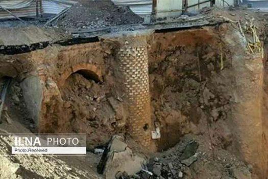 کشف بخشی از تبریز قدیم در حفاری های پروژه « و المان » در تبریز / سکوت مسئولان استانی و شهری درباره این اتفاق