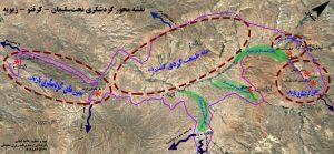 نقشه محور گردشگری تخت سلیمان، زیویه و کرفتو